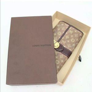 Auth Louis Vuitton Long Portefeuille Sarah wallet!